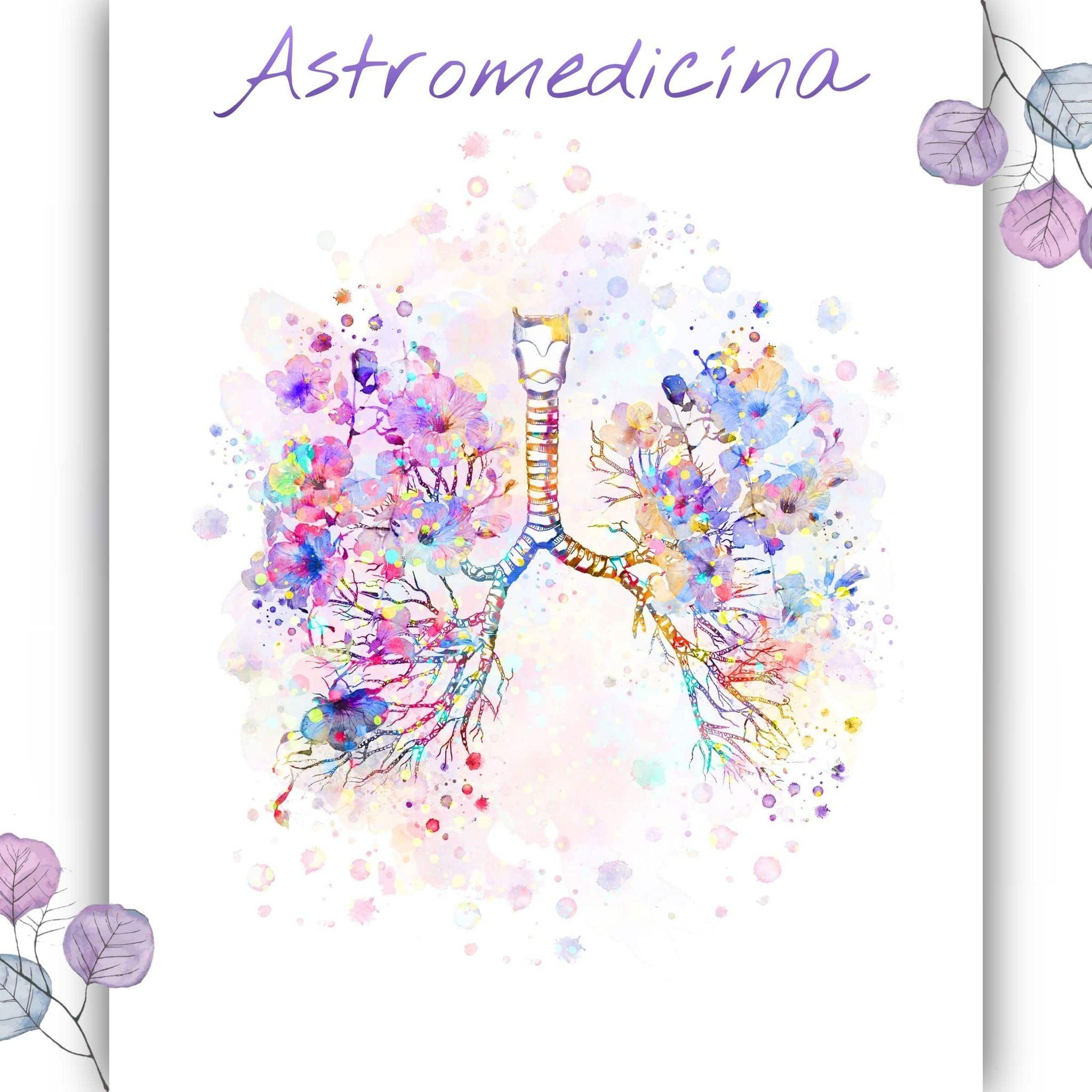 Môže ísť o ilustráciu text that says 'Astromedicina om'